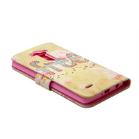 bag illustration - Illustration Rose Leather Pu Filp Phone bags For LG G3 mini D722 D725 Case Stand Holder Cover Cases With Card