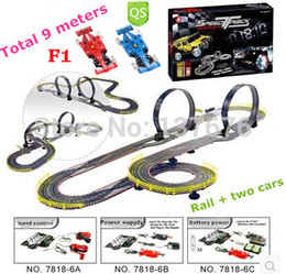 Wholesale 9M Electric RC Car Toy Roller Coaster track cars Formula1 Railroad Space Railway Assembling Toy kids toy remote control car