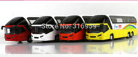 airport buses - New Airport passage express bus model diecast car model doors open sound amp light bus action toy vehicles