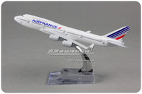 airlines air - 16cm Alloy Metal Air France Airlines Plane Model Boeing B747 F GITB Airways Airplane Model Aircraft Mode Toy
