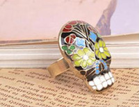 Wholesale 48 best selling Strong Skull ring ring Opera facebook Adjustable ring J Alloy Accessories