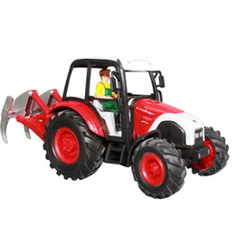 Wholesale hot sale cm farm tractor bulldozer mining machine alloy tractors model toy car pc a