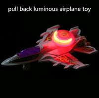 airplane pull - Hot sale Aviation model plastic pull back luminous airplane toy strange new toy