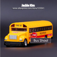 american model car - New Bulk Amber color American Campus Bus School Bus alloy Car Model Toy for Children