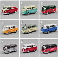 belt bus - 1 Delicate Toy Car Volkswagen Classical Bus Alloy Car model belt WARRIOR Russia Brazil Welly Brand