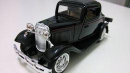 Wholesale toys antique car kids toys collection toy car for children model HJC8010 black color classic car toys for boys