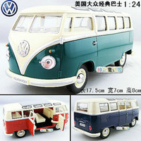 american car collection - New Volkswagen American Classical Bus Large Diecast Model Car Green Toy collection B119c