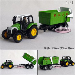Wholesale Candice guo New arrival hot sale farm tractors series vegetable truck alloy model car toy car good for gift pc