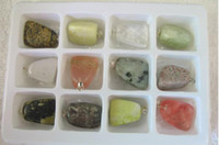 Wholesale Bulk pretty Gem Stone Boxed Pendants