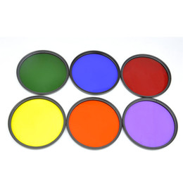 Wholesale-52mm Color Filter Kit Green Blue Red FLD Orange Yellow SLR Camera Filter K1003