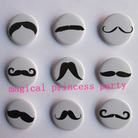 badge safety pins - cm inch mustache theme cartoon plastic safety pin decorate badges kids party favor