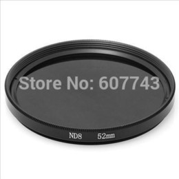 Wholesale-Green.L 52mm 52 mm Neutral Density ND 8 ND8 Lens Filter for Camera Camcorder