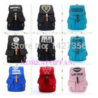 Wholesale EXO Super Junior Bigbang PM G Dragon Canvas School BAG Backpack Kpop NEW