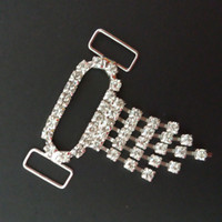Wholesale New dense smaller dangle rhinestone bikini connectors or rhinestone sandals shoe buckle