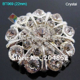 Wholesale-20pcs lot 22mm metal fashion crystal button rhinestone diamante button in Sliver For DIY Garment Browband Accessories