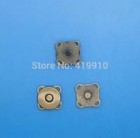 achat en gros de boutons en métal bronze-Gros-20 Règle Bronze magnétique Bouton Snaps sac sac déployante, Coudre fermoir magnétique Bouton en métal Fastener Couture Craft 15mm, M01379
