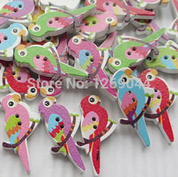 Wholesale Birds On Branches Wood Buttons mm Sewing Craft Mix T0003