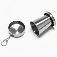 Wholesale Stainless Steel Portable Outdoor Travel Camping Folding Collapsible Cup