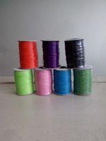 Cheap Wholesale-cheap and popular diameter 1.0mm Wax cord for whloesaler 20meters multi warna 1mm wax cord cotton string untuk gelang kalung DIY