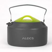 Wholesale ALOCS L Aluminum Portable Oxide Outdoor Camping Hiking Pot Teapot Kettle CW K09