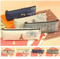Cheap Canvas Stationery Storage Pen Pencil Case Coin Purse Pouch Bag Cosmetic Makeup
