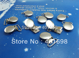 Wholesale-40Pcs Lot Suspenders circular round cover clips,mitten clips,metal clips K4