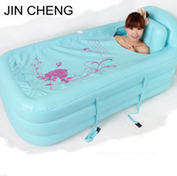 inflatable bathtub for adults - Adult Spa folding Portable bathtub creative household inflatable bath tub For Kids Gift