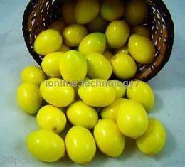 Wholesale 2015 Direct Selling Crafts Decoration Fake Mini Lemon Plastic Artificial Fruit House Party Kitchen Decor