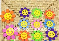 Cheap Free shipping 7 cm EVA smiling sunflowers,Christmas DIY crafts, DIY flower,classroom wall metope decorate flower,wall sticker