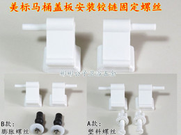 Wholesale American Standard toilet accessories parts toilet cover hinged lid fixing screws kit set American Standard toilet cover screws