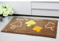 bath rugs sets - High quality overcoat toilet case cartoon design bath rug set soft carpet SET waterproof mat for U amp O shape toilet purple