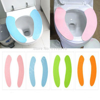 Cheap Practical Bathroom Warmer Toilet Washable Cloth Seat Cover Pads cushion cover toilet seat attached cleaning pad