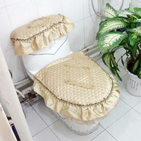 bamboo toilets - Enya bamboo cotton series circled toilet set dust cover piece set toilet cover three piece set