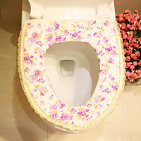 bathroom washer - Fashion bathroom skirt laciness lace thermal toilet mat toilet set toilet washer toilet set unpick and wash