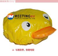 Wholesale Cartoon waterproof shower cap waterproof thickening duck design