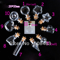 lot of perfume - cute cork Wish Mini glass Bottle Perfume essential oil vial kinds of design to choose