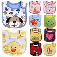 Wholesale 2015 new New cotton Baby boys girls bibs Infant embroidered saliva towels Baby Waterproof bib wear