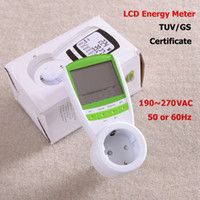 Wholesale EU Plug Power Watt Volt Amp Energy Meter Analyzer with Power Factor High Quality Hot Sale