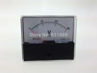 Купить Аналоговой панели вольтметр-Бесплатная доставка аналоговые Вольт напряжения метр панели вольтметр постоянного тока 0-30В 30В