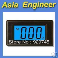 Wholesale 2pcs Blue LCD Digital AMP Panel Meter DC A Shunt