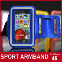 arm sports videos - 10pcs For iPhone Armband Colorful Arm Band For iPhone S G G GS iPod itouch Video Sport Bag Armband Case