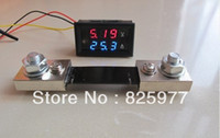 amp combo - DC V A Red amp Blue Led Dual Panel Volt Amp Combo Meter A mV Shunt