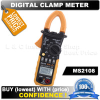 Cheap Free shipping HYELEC MS2108 Mastech digital Clamp testing True RMS AC DC Current Clamp Meter equal to FLUKE F317