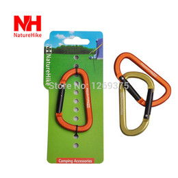 Wholesale D Shape CM Mountaineering Buckle Aluminum Alloy Climbing Carabiner Hanging Keychain Hook Outdoor Camping Equipment Tool