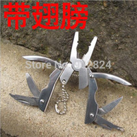 Wholesale pc Outdoor mini pliers multi function key multitool tools camping outdoor best quality portable camping survival tool G667