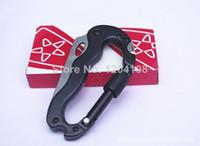 Wholesale Outdoor multifunctional mountaineering buckle strap knife tools carabiner