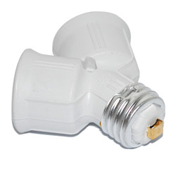 Wholesale Adaptador de Split lámpara E27 Marca Foxanon a xE27 a Forma Y LED halógeno CFL Bombilla Base divisor del zócalo del convertidor Extender