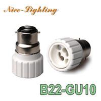 bayonet light socket - 10pcs B22 GU10 Ceram Lamp Holder Converter Bayonet Socket B22 to GU10 Lamps Holder Adapter Light Bulb Plug Extender