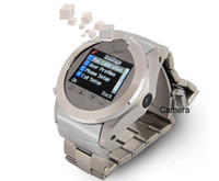 Wholesale full of steel Triband watchphone W968 bluetooth mp3 mp4 spy cellphone watch