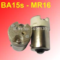 adapter mr16 - 10pcs BA15s TO mr16 g4 g5 mr11 base Converter socket High quality fireproof material B15 TO mr16 socket adapter Lamp holder